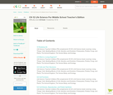Life Science for Middle School (Teacher's Edition)