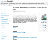 BC Reads: Adult Literacy Fundamental English - Course Pack 1
