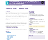 CS Discoveries 2019-2020: Interactive Animations and Games Lesson 3.22: Project - Design a Game