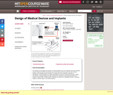 Design of Medical Devices and Implants, Spring 2006