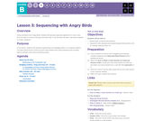 CS Fundamentals 2.3: Sequencing with Angry Birds