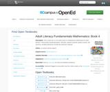 Adult Literacy Fundamentals Mathematics: Book 4