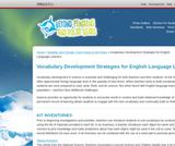 Vocabulary Development Strategies for English Language Learners