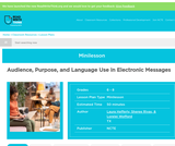Audience, Purpose, and Language Use in Electronic Messages