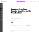 Locating Fractions Greater than One on the Number Line