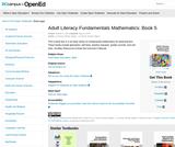Adult Literacy Fundamentals Mathematics: Book 5
