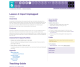 CS Discoveries 2019-2020: Physical Computing Lesson 6.4: Input Unplugged