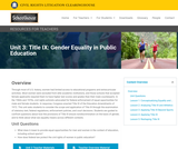 Gender Equality in Public Education – The Civil Rights Litigation Schoolhouse