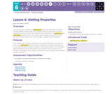 CS Discoveries 2019-2020: Physical Computing Lesson 6.6: Getting Properties