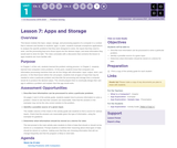 CS Discoveries 2019-2020: Problem Solving Lesson 1.7: Apps and Storage