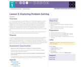 CS Discoveries 2019-2020: Problem Solving Lesson 1.3: Exploring Problem Solving