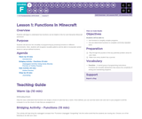 CS Fundamentals 6.1: Functions in Minecraft