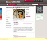 Introductory Analog Electronics Laboratory, Spring 2007