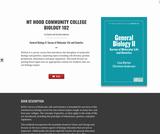 Mt Hood Community College Biology 102