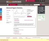 Advanced Organic Chemistry, Spring 2007