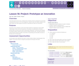 CS Discoveries 2019-2020: Physical Computing Lesson 6.16: Project - Prototype an Innovation