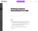 Finding Common Denominators to Add