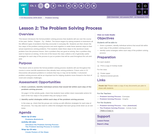 CS Discoveries 2019-2020: Problem Solving Lesson 1.2: The Problem Solving Process