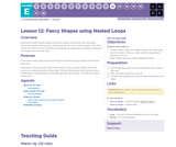 CS Fundamentals 5.12: Fancy Shapes using Nested Loops