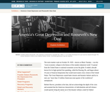 America's Great Depression and Roosevelt's New Deal