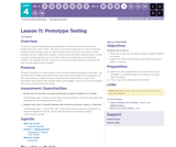 CS Discoveries 2019-2020: The Design Process Lesson 4.11: Prototype Testing