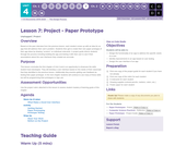 CS Discoveries 2019-2020: The Design Process Lesson 4.7: Project - Paper Prototype