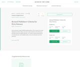 Common Core: Publishers' Criteria