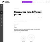 Comparing Two Different Pizzas
