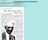 """""""How Henry Ford Made a Man of Me"""""""