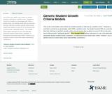 Generic Student Growth Criteria Models
