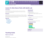 CS Fundamentals 6.3: Alien Dance Party with Sprite Lab