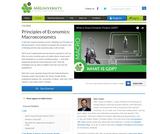 Principles of Macroeconomics (Video)