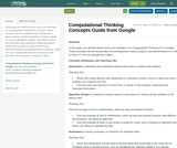 Computational Thinking Concepts Guide from Google