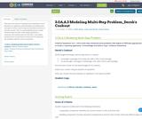3.OA.A.3 Modeling Multi-Step Problem_Derek's Cookout