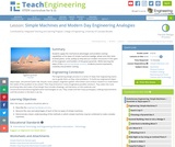 Simple Machines and Modern Day Engineering Analogies
