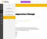 7.NS, 7.RP  Temperature Change