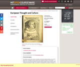 European Thought and Culture, Spring 2008