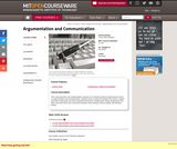 Argumentation and Communication, Fall 2006