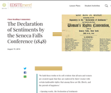 The Declaration of Sentiments by the Seneca Falls Conference (1848)
