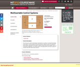 Multivariable Control Systems, Spring 2004