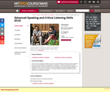 Advanced Speaking and Critical Listening Skills (ELS), Spring 2007