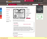 Communications and Information Policy, Spring 2006