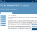2nd Grade English Language Arts - Unit 6: Solving Mysteries: The Fenway Foul-up