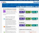 Illustrative Mathematics: IM 6-8 Math (Kendall Hunt)