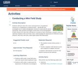 Conducting a Mini Field Study