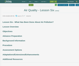 Air Quality - Lesson 6 : What Has Been Done About Air Pollution?