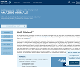 1st Grade English Language Arts - Unit 2: Amazing Animals