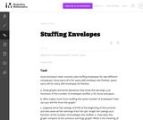 8.EE Stuffing Envelopes