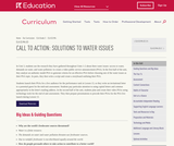 Call to Action: Solutions to Water Issues