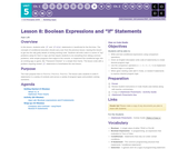 "CS Principles 2019-2020 5.8: Boolean Expressions and ""if"" Statements"